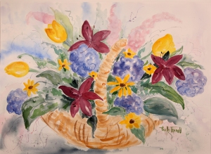 TERRELL Basket_of_flowers 27 x 35