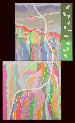 AI-WEN WU KRATZ, Dance To The Earth (fmm)-Part III, ACRYLIC ON CANVAS, 20 X 12 IN.DT